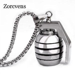 ZORCVENS 60cm Length 316L stainless steel Punk pendant necklace jewerly for men