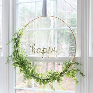 60cm Wedding Flower Hoop Metal Artificial Flower balloon Loop single ring Christmas Party Decoration Home Decoration Hanging ornament