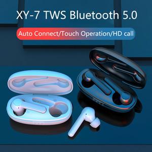 TWS беспроводные наушники XY-7 Bluetooth V5.0 гарнитуры наушников HiFi стерео наушники