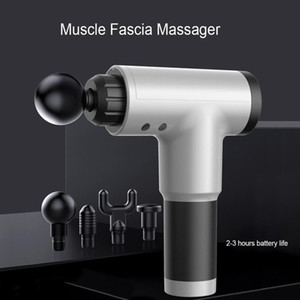 Stock High Quality Muscle Massage Gun Deep Massage Exercising Body Relaxation Fascial Gun Pain Relief Slimming Shaping