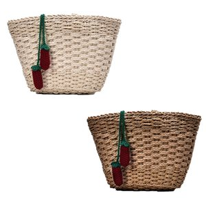 Frauen-Schulter-Umhängetasche Stroh-Beutel gestrickter Rattan Satchel Handtasche / Tote / Strand Woven Bucket Bag