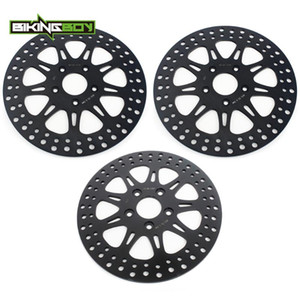 BIKINGBOY Frente Rear Brake Discs Discos rotores para 1340 Super Glide / Baixo Glide / Low Rider Esporte Ampla