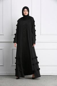 Abbigliamento preghiera Abaya musulmano Fiore completa Abiti Cardigan Kimono lunga veste abiti tunica Jubah Medio Oriente arabo islamica Ramadan