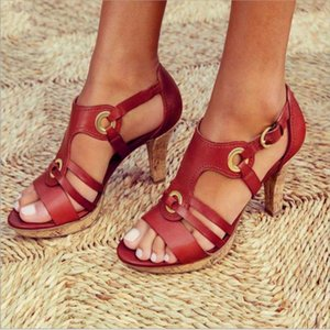 New Style Elegant Buckle Strap Sandals Women 2019 Sandals Female Bohemian Style Summer Fashion High Heels Women's Shoes