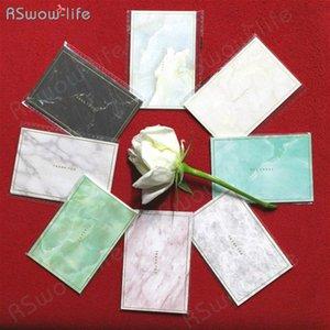 35pcs Mini Marbled Gold Mini timbratura carta semplice creativo Greeting Card Nozze Compleanno Auguri di Natale a4SE #
