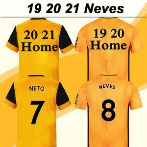 20 21 NEVES الرجال لكرة القدم الفانيلة بولي CAVALEIRO DIOGO J. الرئيسية الأصفر بعيدا الأسود 3RD كرة القدم قمصان الذئاب كم قصير maillots دي القدم