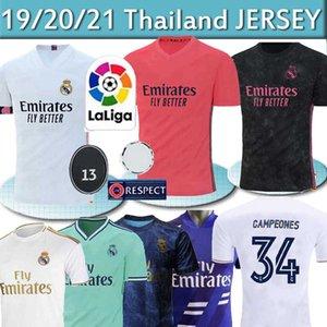 REAL MADRID camisetas de jersey de fútbol 20 21 PELIGRO DE SERGIO RAMOS 34 Campeones uniformes camiseta de fútbol de la camisa de los hombres + los niños juegos de piezas de 2020 2021