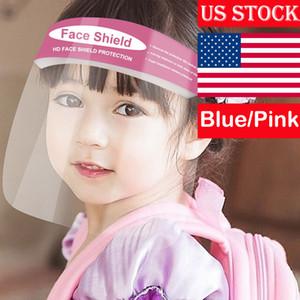 Cara de protección Pantalla Clear Mascarilla para niños Los niños de las gotitas seguridad para los niños de Estados Unidos transparente Protección evitar que los niños anti-niebla para toda la cara de la