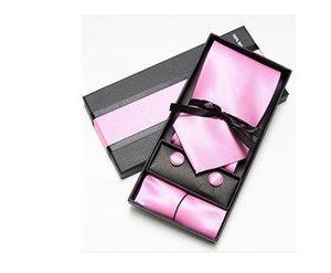 Новые европейские и американские моды и досуга для мужчин Аксессуар Tie Suit Fashion Pure Полотенце Запонки Бизнес Tie Подарочная коробка Карманные