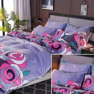 Yatak Odası Yüksek Kaliteli Mekanik Wash için% 100 Mikrofiber Kumaş Baskılı Fanila Fleece Yatak Seti Nevresim Yastıklar Kılıf 3PC