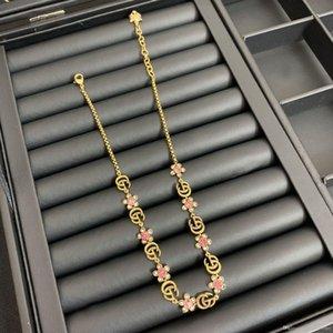 Luxus-Designer-Schmuck Frauen Halskette Goldblume mit Diamanten Designer Halskette für Männer dicke Kette Halskette und Ohrringe Armbänder Anzug