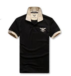 Diseñador del verano camisas de polos de los hombres de Louis Vuitton hombres de la marca de Polos camisetas con las letras de la serpiente del bordado de lujo Polo de manga corta Tops Gucci