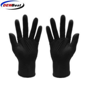 Guantes desechables de alta calidad barato Negro / espesar guante guantes de examen de látex de nitrilo azul