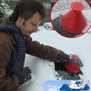 New Scrape A Round Ice Scraper Car Windshield Snow Scraper Cone Shaped Ice Scrapers 4 Colors