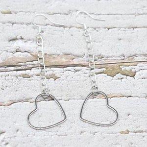 Hollow tassel heart Dangle Earrings Silver Fish Ear Hook 50pairs Charms Chandelier Earrings Jewelry Gift Bijoux