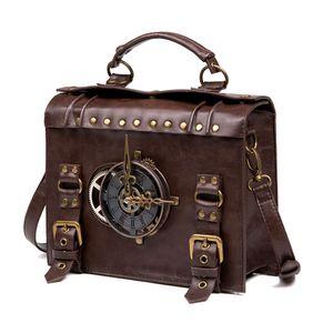 Сумки для тела стимпанк передач ретро готические сумки партии Cosplay товара Сумка высокого качества искусственной кожи Cross Lolita Стиль сумки плеча