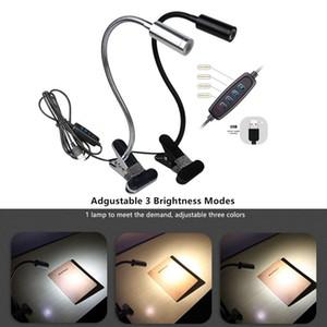 Flexible Foldable Eye Protection Light DC5V USB LED Clip Reading Night Light 3 Brightness Modes Table Lamp Desk Bedside Lantern