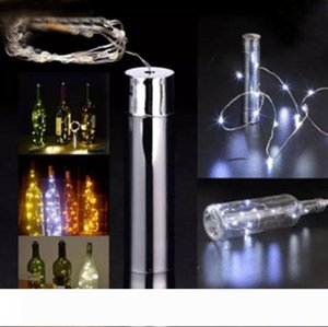 15 LED Battery Powered Plating Wine Bottle Stopper Copper DIY Cork Light String Fairy Strip Night Lamp Outdoor Party Decoration LLFA
