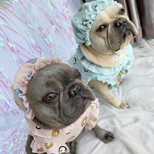 Baby Style Pet Dog Summer Cool Clothes for Small Dogs Pets Cotton Clothing with Hat French Bulldog Pug Cute Costume S-2XL T200710
