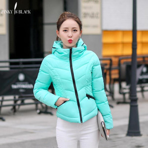 PinkyIsBlack 2020 mujeres abrigo de invierno de las nuevas mujeres de la chaqueta de la moda de invierno cálido chaquetas con capucha casuales abajo abrigos de algodón parcas