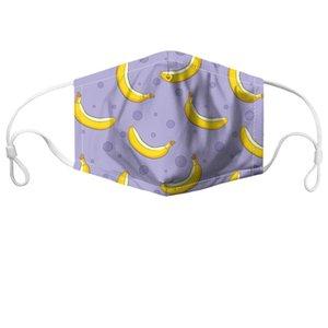 2020 Nueva mascarilla diseñador 3D de impresión digital a prueba de polvo mascarillas fasion máscara PM2.5 filtro lavable y transpirable adultas mascarillas