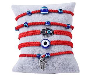 Adjustable Bracelet Lucky Bracelet Kabbalah Red String Thread Hamsa Bracelets Blue Turkish Evil Eye Charm Jewelry Fatima Handmade Bracelet