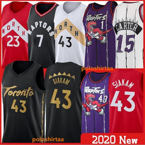 2020 Pascal 43 Siakam Basketball Jerseys Kyle 7 Lowry Tracy Carter Vince Fred 23 VanVleet Basketball NCAA shirt Stitched College Jerseys