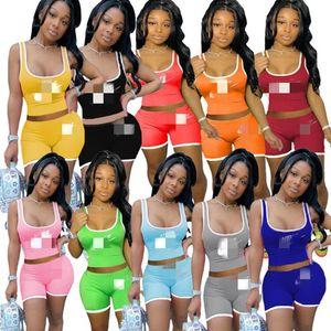 Женский спортивная топике шорты нарядов лето два кусок набора спортивного костюма нового горячие продавать моды печати летних женщин одежд klw4205