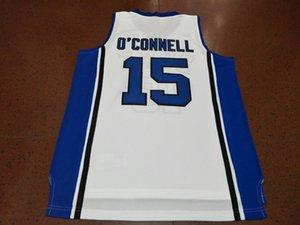 mulheres costume Homens Jovens Vintage # 15 Alex O Connell Duke Blue Devils College Basketball Jersey Tamanho S-4XL ou personalizado qualquer nome ou número de jersey
