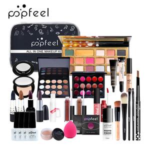 POPFEEL составляют набор косметики набор (тени для век помада, брови, BB крем, пудра, консилер, лак для ногтей) 30 шт в 1 комплект