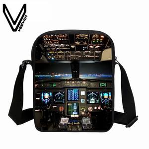 VEEVANV Mode Kinder Messenger Bags Flugzeug Modul Druck-Schulter-Beutel-Jungen-Mädchen Kleine Purse Schule Umhängetasche Neue