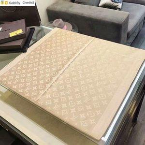 Chenfei3 MMB1 de haute qualité Celebrity Cachemire Coton Foulard en soie Mode Femme Lettre Cercles d'impression longues écharpes 180 * Châle Wrap 70cm