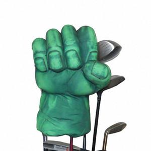 Golf La boxe Main Green Club Cover Driver Bois 460cc tête Golf Club, animaux Headcover QHiC #
