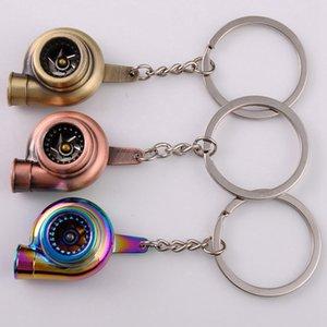 Turbo Keychain Car Whistle Sound Keychain Car Key Chain Keyring Sleeve Bearing Spinning Model Turbine Turbocharger