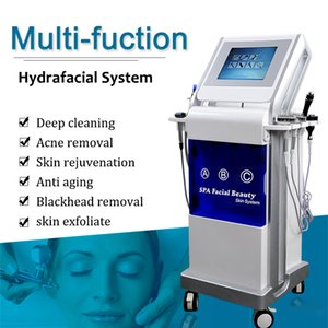Mejor Piel HydraFacial Md Máquina Hydro dermoabrasión de limpiar la cara Rejuvenecimiento microdermoabrasión Equipo HydraFacial espinillas Spa Venta