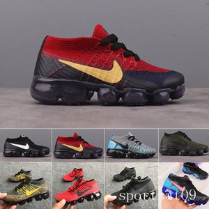 Nike Vapormax flyknit air max  kids Presto air flari Running Shoes Children Athletic Shoes Boys Girls Kids cushion Training Black orange purple Sports Sneaker shoes MI5RS