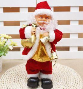 Bailar eléctrica juguetes de Papá Noel Navidad eléctrica Música de Santa Claus muñeca de Navidad para los niños Parte de Navidad de dibujos animados Accesorios GGA3561-3