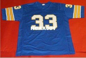 BLEU Custom Men # 33 Tony Dorsett PITTSBURGH College taille Jersey s-4XL ou sur mesure un nom ou un numéro de maillot de football vintage
