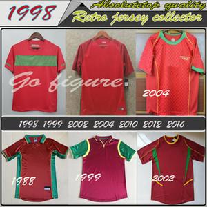 Ретро Португальская футбол Джерси 1999 2002 2004 2010 2012 RONALDO RUI COSTA футбол рубашка NANI F.COENTRAO древнего трико Высокого качества