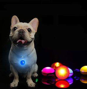 One Piece Pet Pendant LED Light Dog Tag Hot 8 Color Luminous Night Dog Collar Colorful