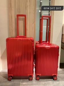 PC de haute qualité anti-usure Matériau TSA verrouillage des douanes épaissie en alliage d'aluminium Valise d'angle de grande capacité Case Voyage Air Case 24