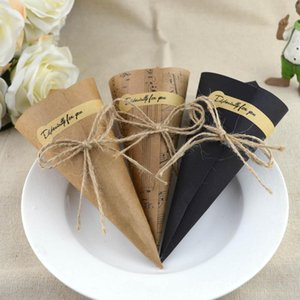 kraft paper gift wrapping paper creative cone bouquet diy handmade flower packaging 100pcs Note cone vintage