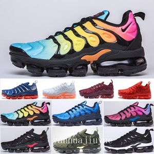 2019 TN PLUS Running Shoes For Men Women Black Speed Red White Anthracite Ultra White Black 2019 Best Designers Sneakers 40-46 KNCI9