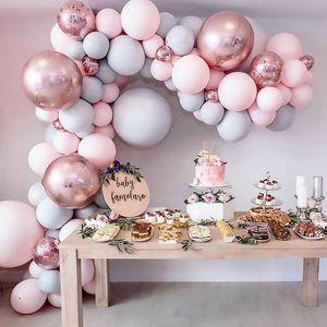 169pcs Macaron Balloons Garland Arch Rose Gold Confetti Ballon compleanno di cerimonia nuziale Baloon festa di compleanno Decor bambini Baby Shower