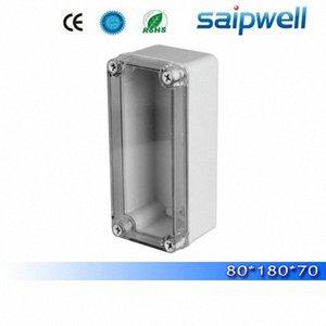 2015 melhores venda quente IP65 tamanhos padrão de plástico caixa de junção com tampa transparente 80 * 180 * 70mm DS-AT-0818 de alta qualidade UGEN #