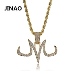 Jinao New Hip Hop Majin Pingente Micro Pave Zircon Iced Out animal Colar Man presente Mulheres