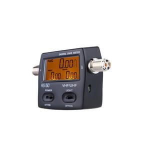 HAM UHF / VHF LED Arka wattmeter Dijital Güç Ölçer RS-50 SWR Duran Dalga Oranı Enerji Metre Tek Fazlı 120W