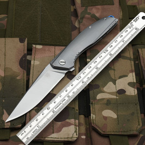 Bear head folding knife 5 CR13 blade full steel handle processing titanium tactical knife pocket camping tool quick opening hunting knife su