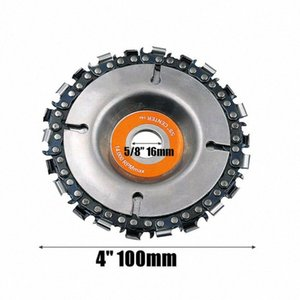 1PC 4 Inch Grinder Disc With Chain 22 Tooth Fine Cut Chain Set for 100 115 Angle Grinders Wood Carving Disc Cut Chainsaw OmvH#