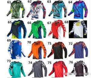 Fox aduana toda la bicicleta de montaña cuesta abajo estilos traje de verano traje largo de montaña moto de motocross camiseta de la manga